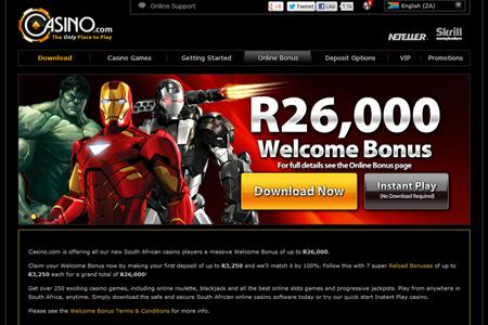 sa online casinos no deposit bonus